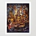Gold Buddha Art Print