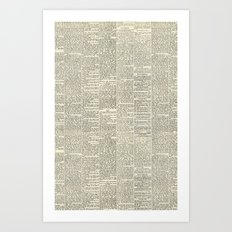 Newsie Art Print