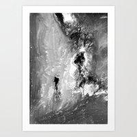 Dream view serie - Waterfall meeting Art Print