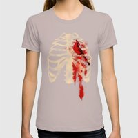 Bird Heart Womens Fitted Tee Cinder SMALL