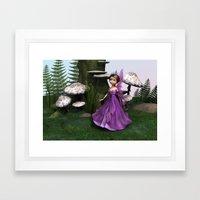 Fairy in Woodland Framed Art Print