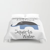 Naughty Elephant Squirts… Duvet Cover