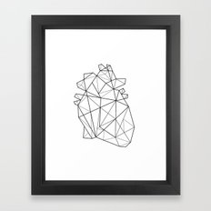 Origami Heart Framed Art Print