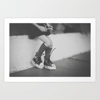 Lomography in the city Art Print