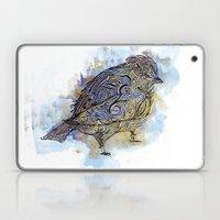 watercolor sparrow Laptop & iPad Skin