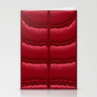 Abstract Red Quilt    Stationery Cards