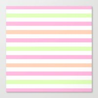 SHERBET STRIPES 2 Canvas Print