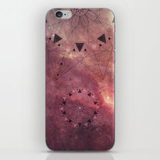 Burgundy Star Mandala iPhone & iPod Skin