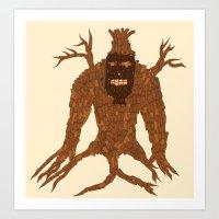 Tree Stitch Monster Art Print