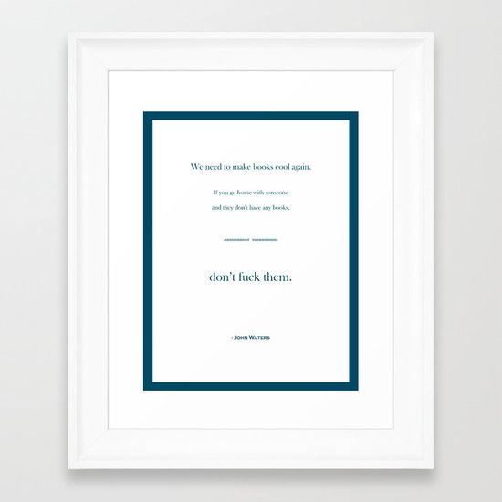 Books Are Cool Framed Art Print