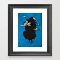 My Head Always In The Sk… Framed Art Print