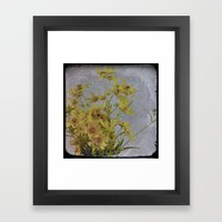 Yellow Flower 2: Antique TTV Framed Art Print