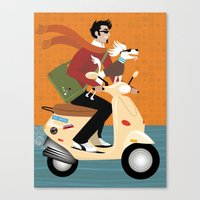 Scooter Pooch Canvas Print