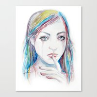 Never Say A Word Canvas Print