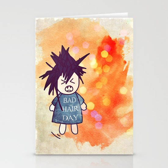 Bad Hair Day Stationery Card