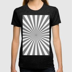 Starburst (Gray/White) Womens Fitted Tee Tri-Black SMALL