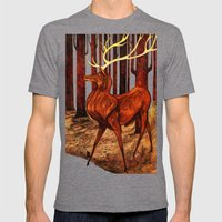 La Majesté du Cerf (The Proud Stag) Mens Fitted Tee Tri-Grey SMALL
