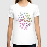 Colourful Drops Womens Fitted Tee White SMALL