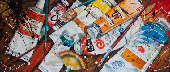 Paint Splash! Art Print