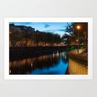 Dublin Fair City Art Print