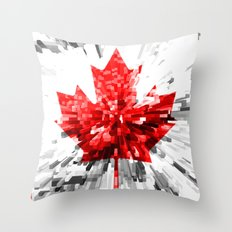Canada Flag - Extrude Throw Pillow