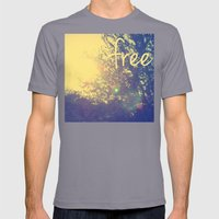 Free Mens Fitted Tee Slate SMALL