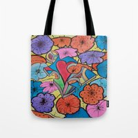 AUTISM OF PEACE AND LOVE Tote Bag