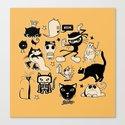 Cat Menagerie Canvas Print