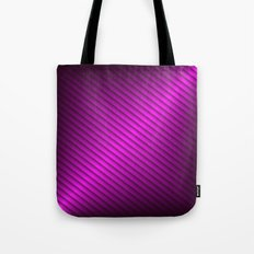 Purple Oblique Stripes Tote Bag