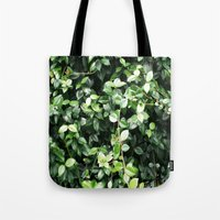 Wall of leaves Tote Bag
