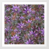 Art Print featuring Purple Clematis by LLL Creations