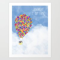 ADVENTURE IS OUT THERE! Art Print