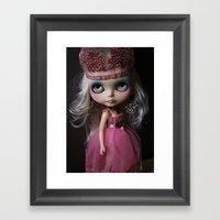 Pink Custom Blythe Darling Diva Art Doll Framed Art Print