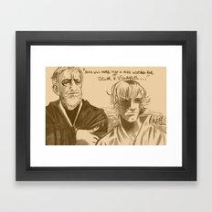 Mos Eisley Overlook Framed Art Print