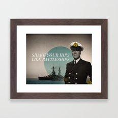 Battleship Framed Art Print
