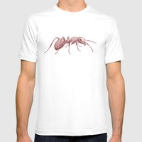 Ants Mens Fitted Tee White SMALL