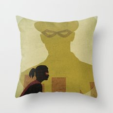 Who is the man in the bowler? Superheroes SF Throw Pillow