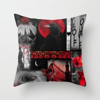 Gothic Red Throw Pillow