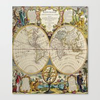 Antique Map Canvas Print