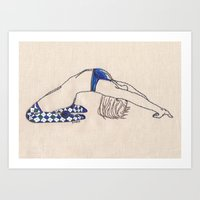 Bend No. 2: Argyle Socks Art Print