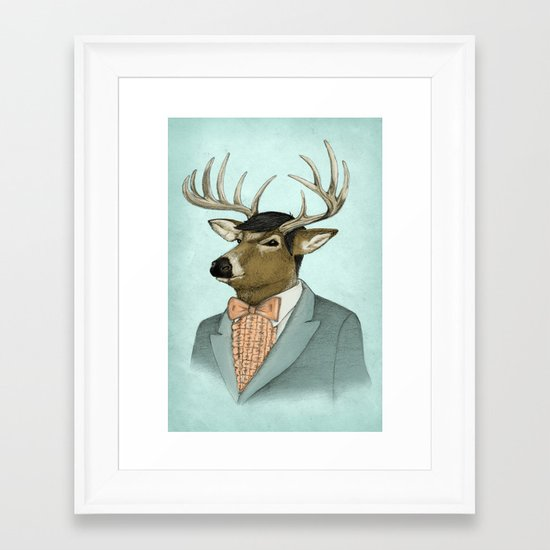 Going Stag Framed Art Print