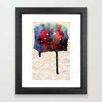 Little Nebula Watercolor Framed Art Print