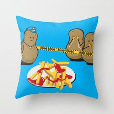 The Horror! Throw Pillow