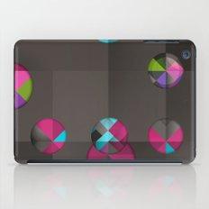 optical illusion black iPad Case