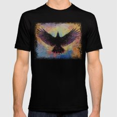 Crow Mens Fitted Tee Black SMALL