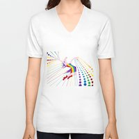 Unicorn Rainbow Maker V02 Unisex V-Neck
