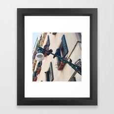 Pigeon Talk Framed Art Print