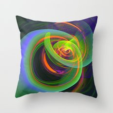 Turbulence, modern fractal abstract Throw Pillow