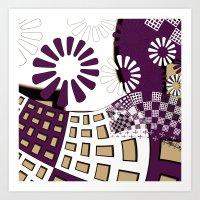 Squares Spiral Geometric… Art Print