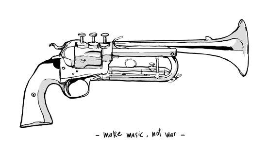 Make music, not war. Canvas Print
